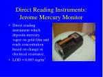 direct reading instruments jerome mercury monitor