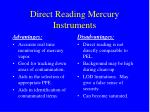 direct reading mercury instruments
