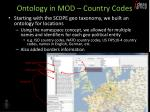 ontology in mod country codes