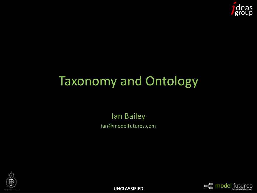taxonomy and ontology l.