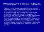 washington s farewell address