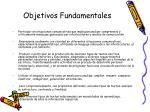 objetivos fundamentales16