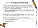 objetivos fundamentales9