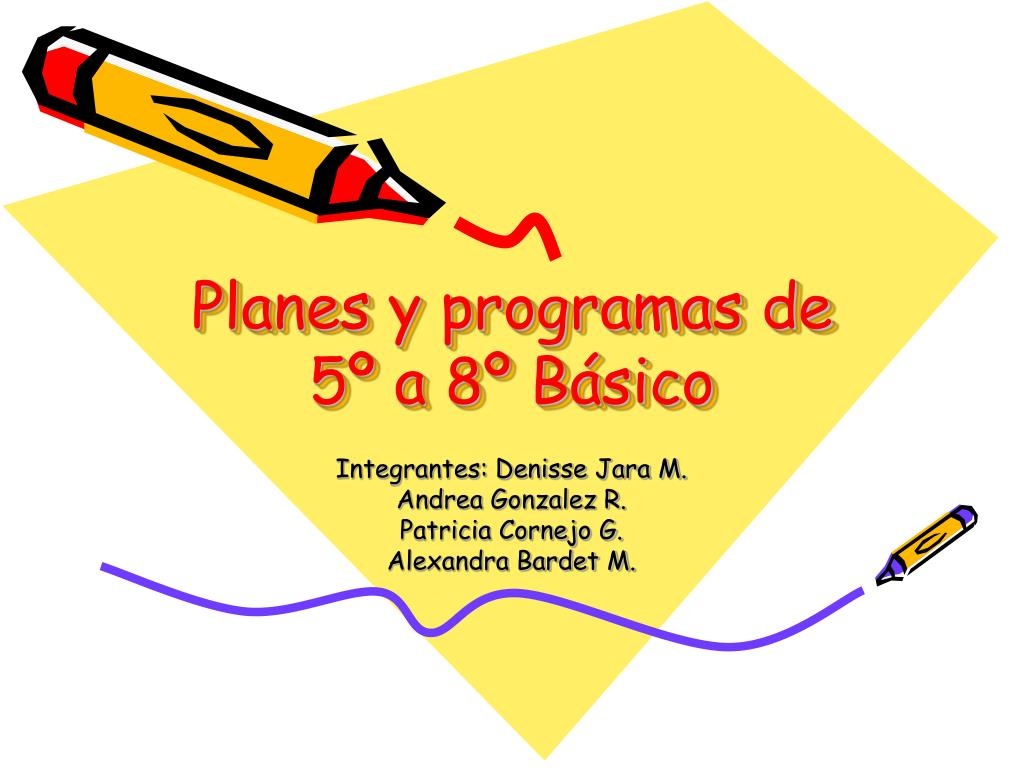 planes y programas de 5 a 8 b sico l.