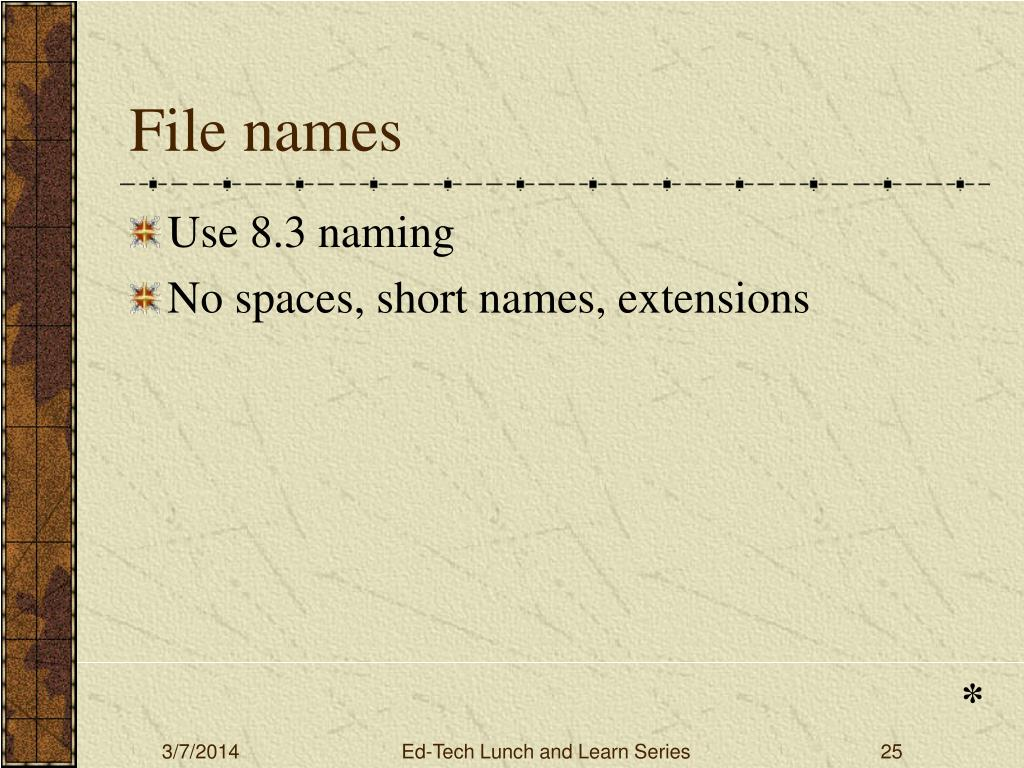 File names