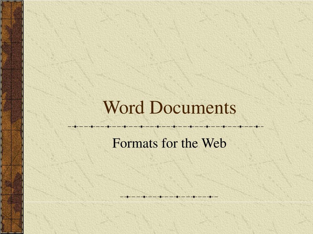 Word Documents