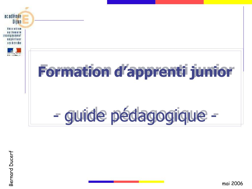formation d apprenti junior guide p dagogique l.