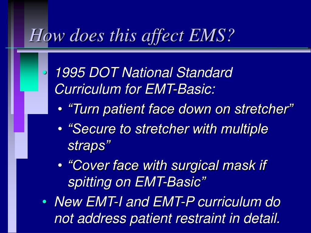 How does this affect EMS?