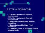 5 step algorhythm