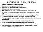 projeto de lei no de 2008