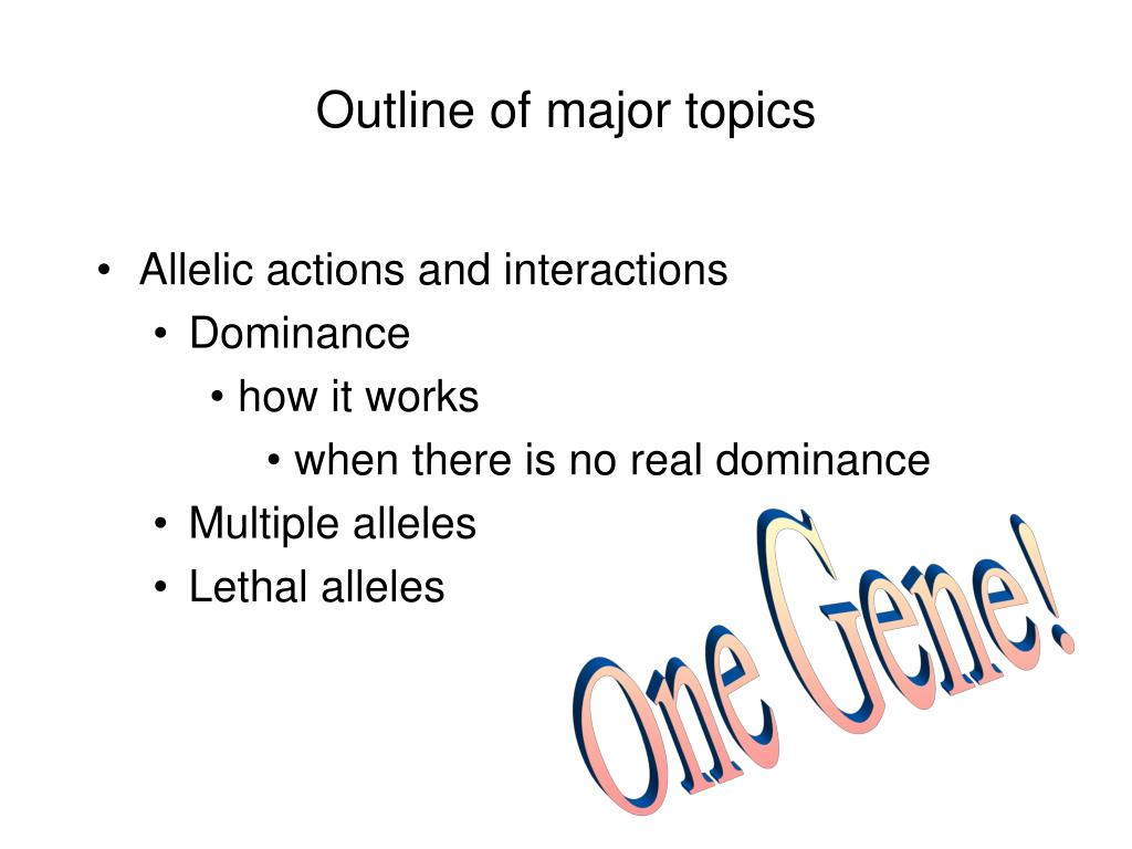 outline of major topics l.