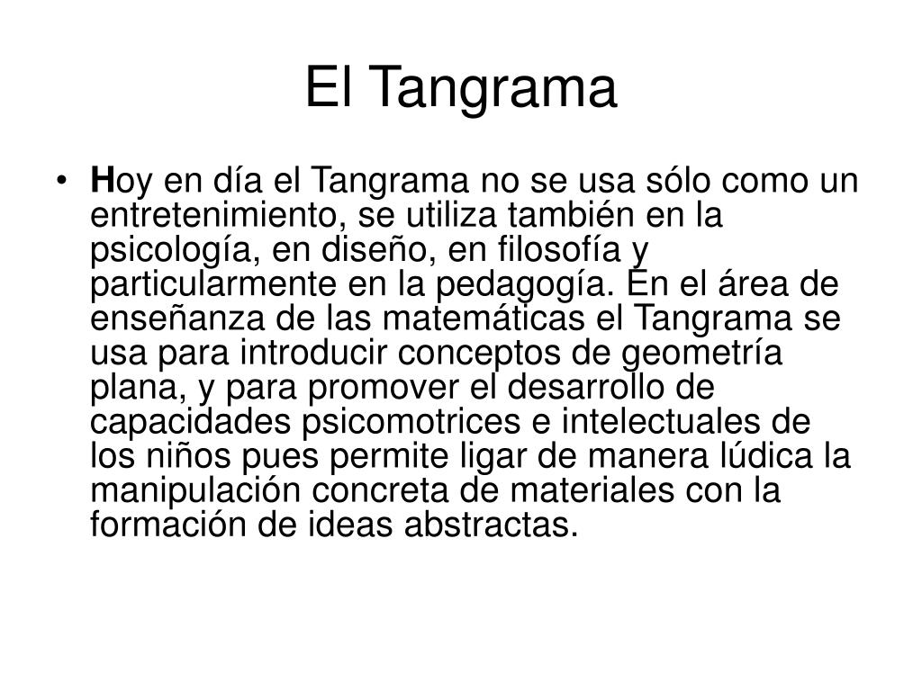 el tangrama l.