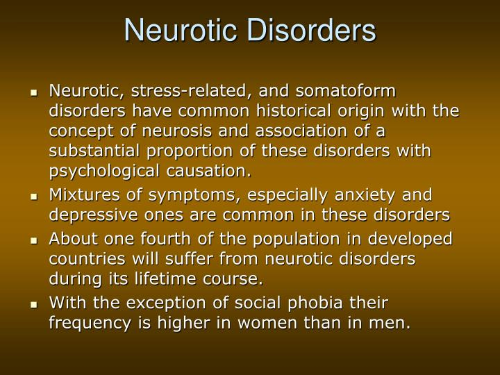 Neurotic disorders2