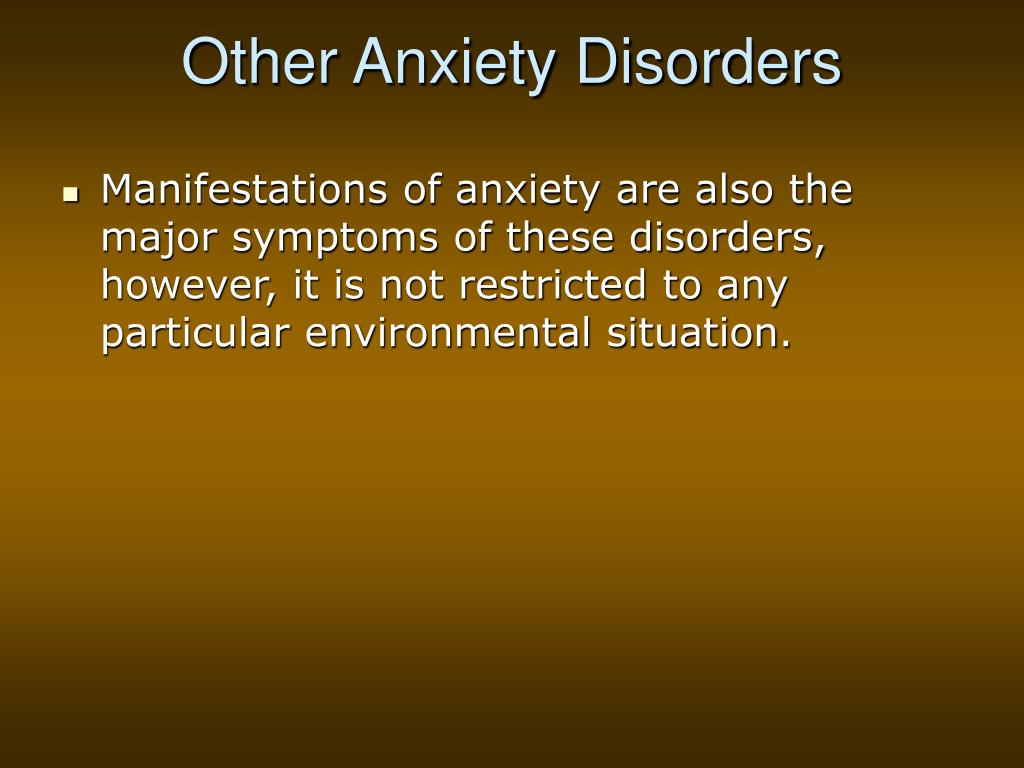 Other Anxiety Disorders