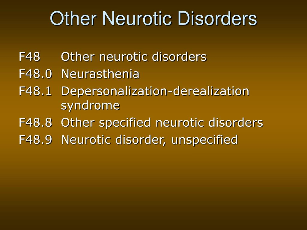 Other Neurotic Disorders