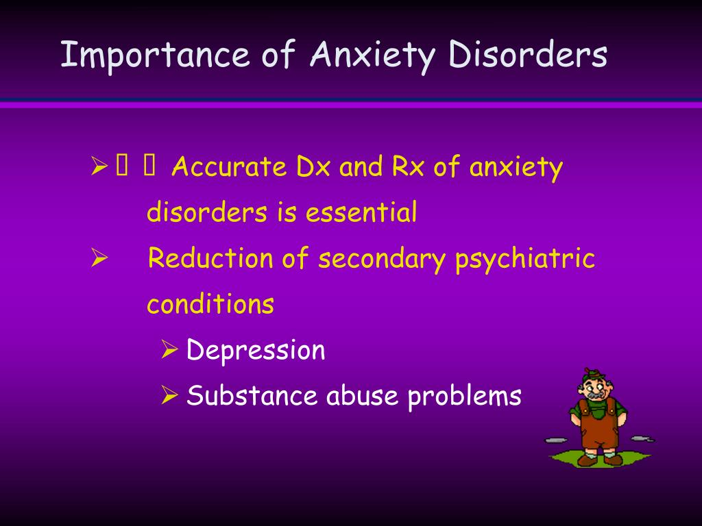 Importance of Anxiety Disorders