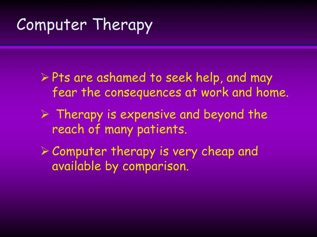 Computer Therapy