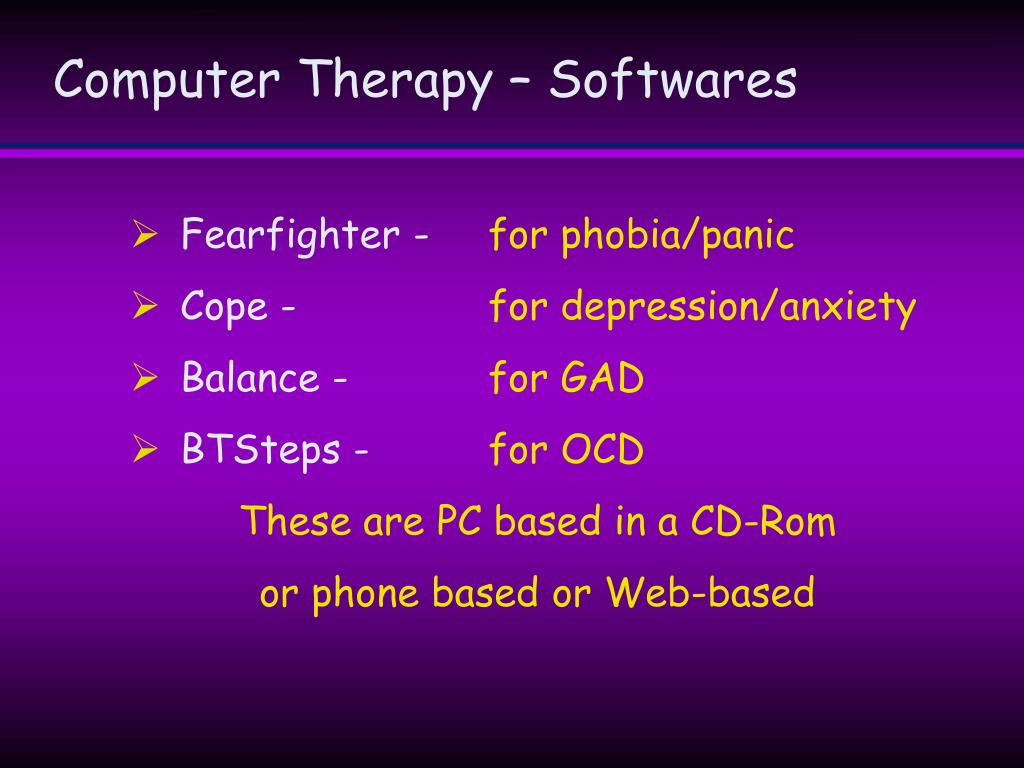Computer Therapy – Softwares
