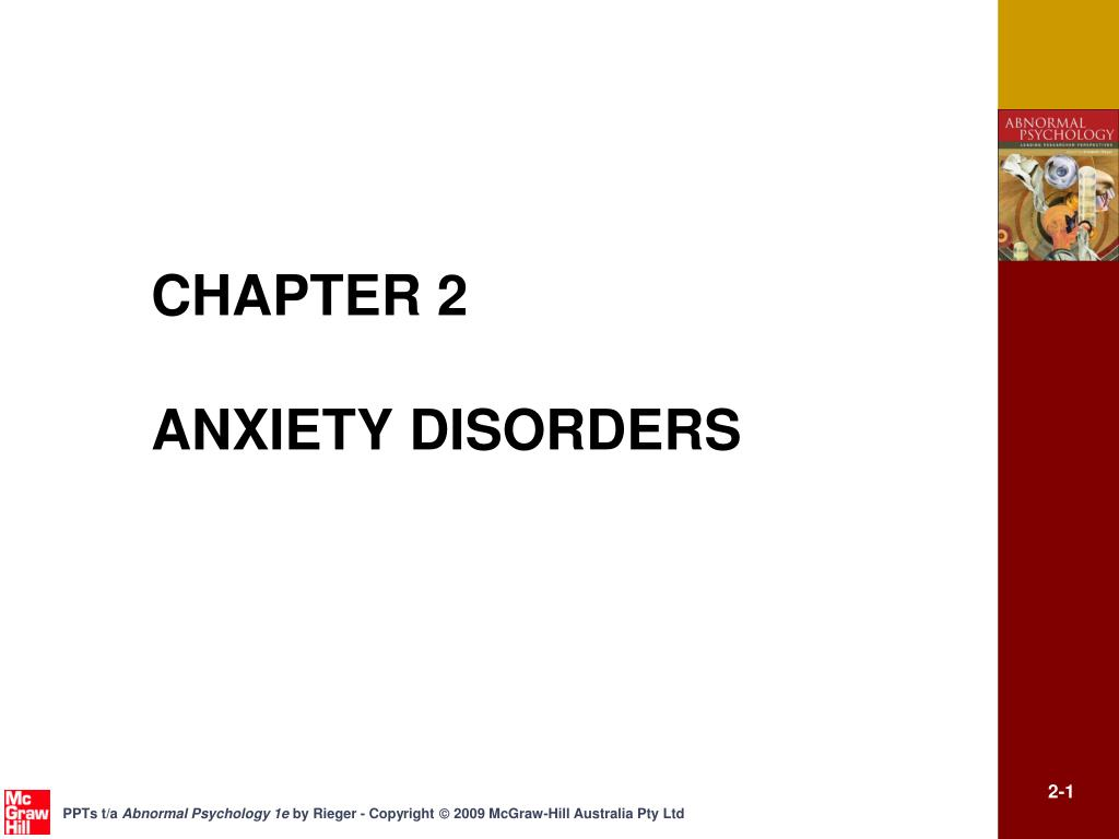 chapter 2 anxiety disorders l.