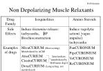 non depolarizing muscle relaxants