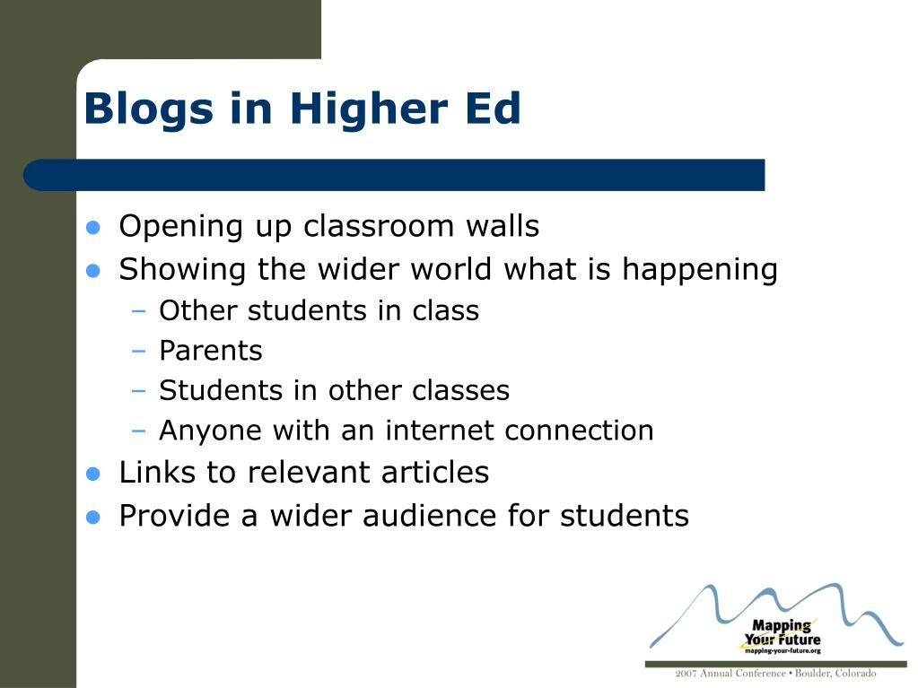Blogs in Higher Ed