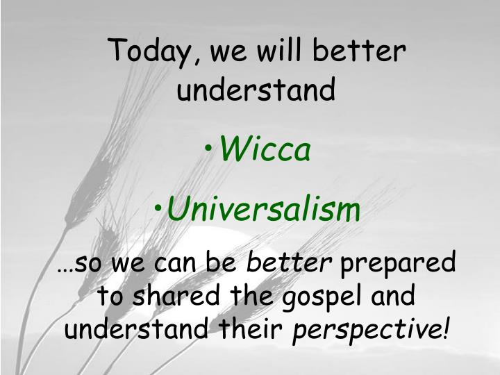 Today, we will better understand