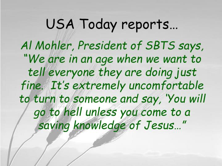 USA Today reports…