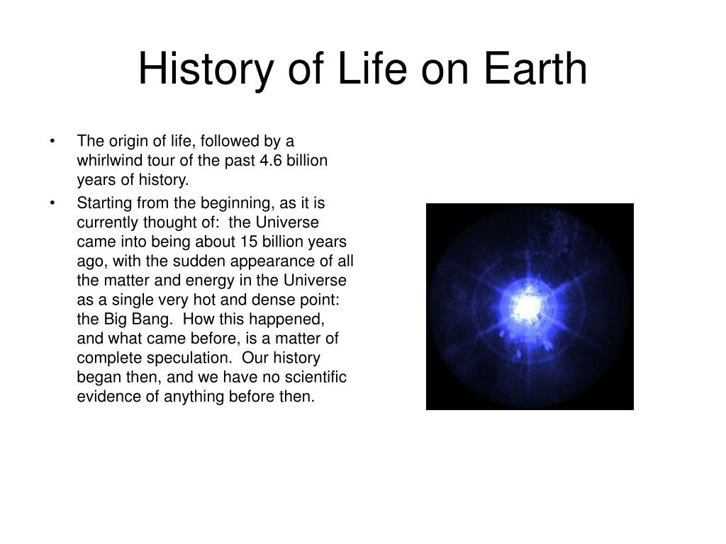 history of life on earth l.