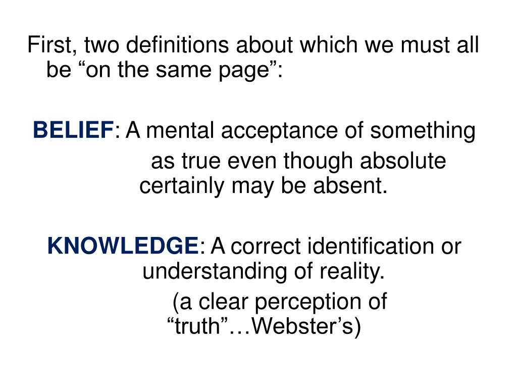 """First, two definitions about which we must all be """"on the same page"""":"""