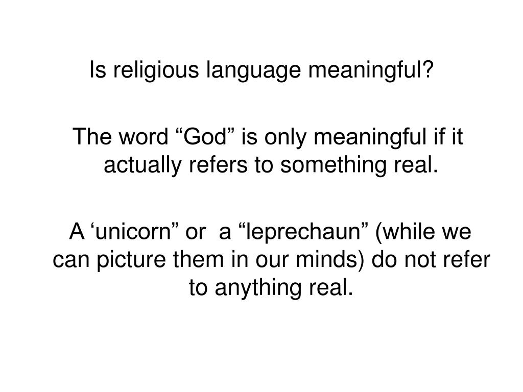 Is religious language meaningful?
