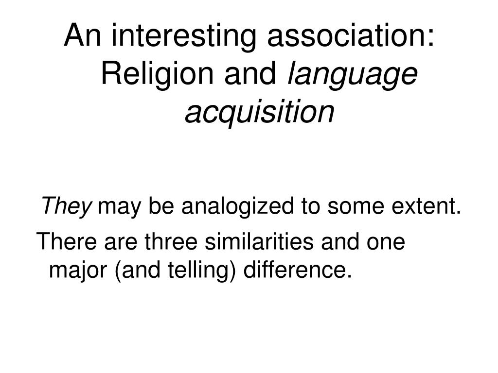 An interesting association: Religion and