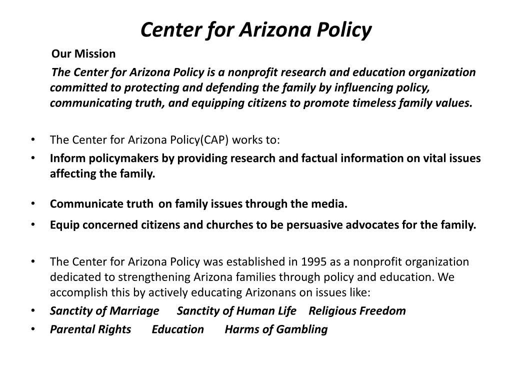 Center for Arizona Policy