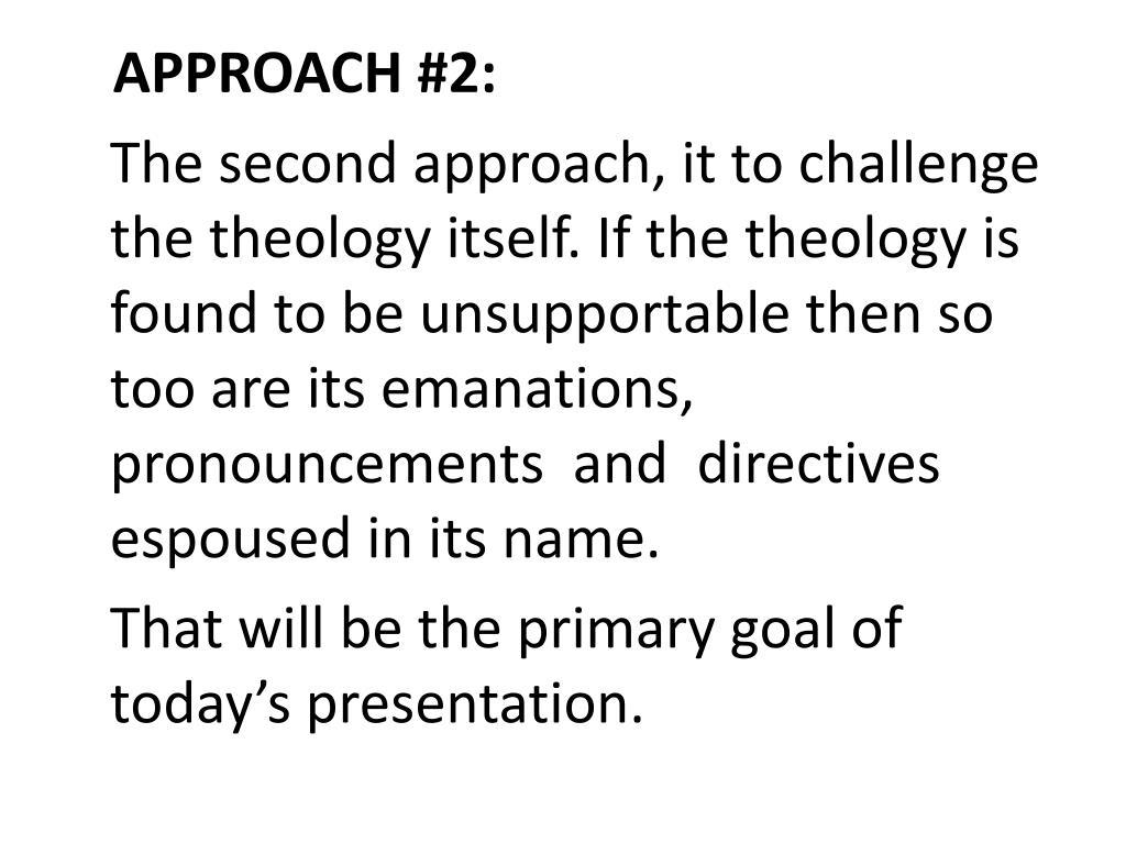 APPROACH #2: