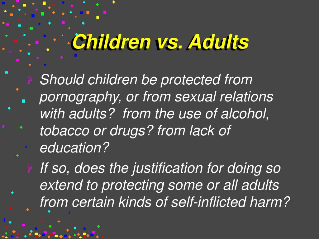 Children vs. Adults
