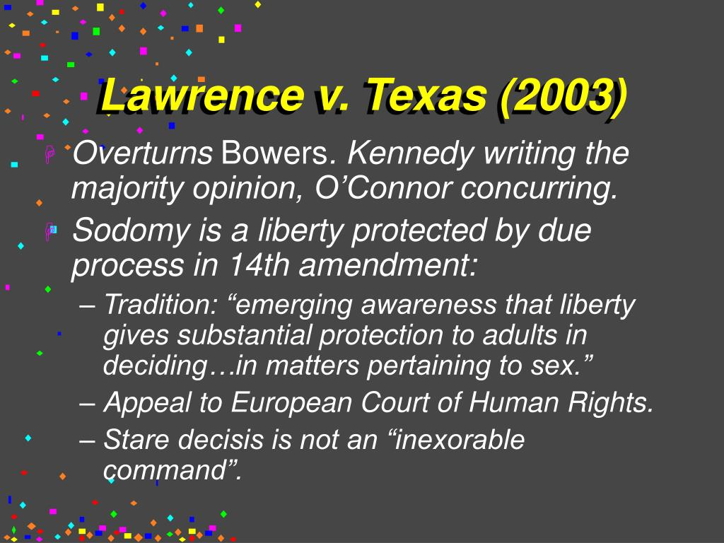 Lawrence v. Texas (2003)