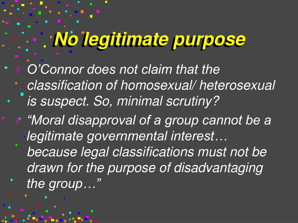 No legitimate purpose