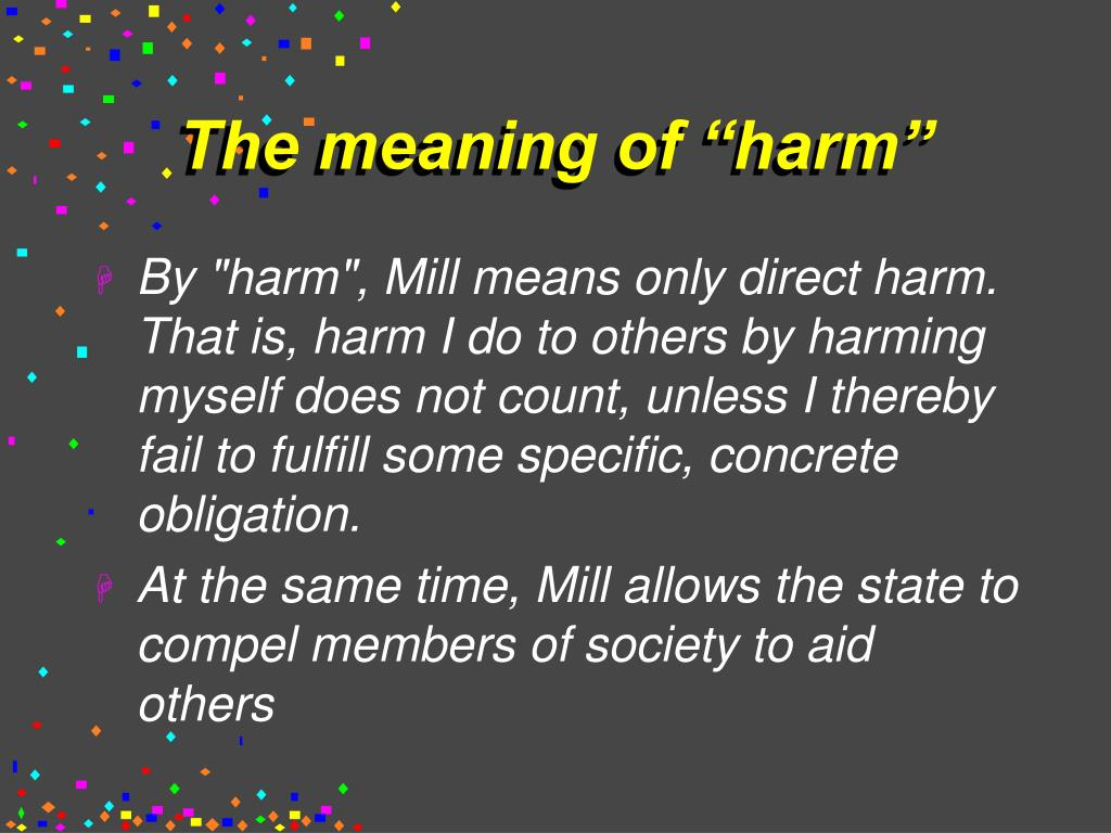"The meaning of ""harm"""