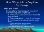 how ep can inform cognitive psychology19
