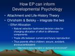 how ep can inform developmental psychology29
