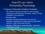 how ep can inform personality psychology33