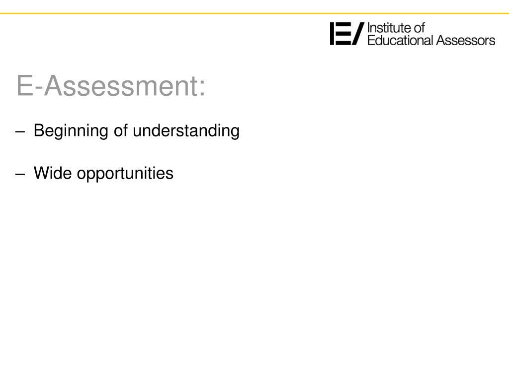 E-Assessment: