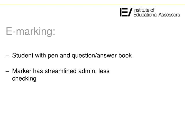 E marking