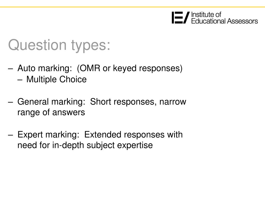 Question types: