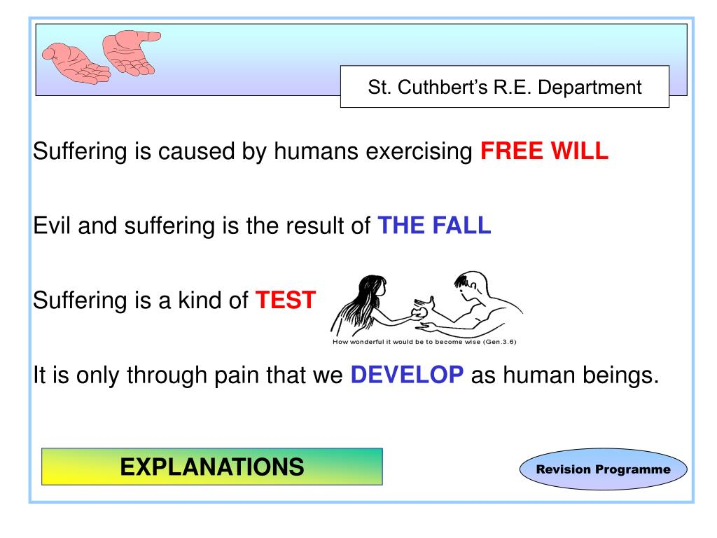 Suffering is caused by humans exercising