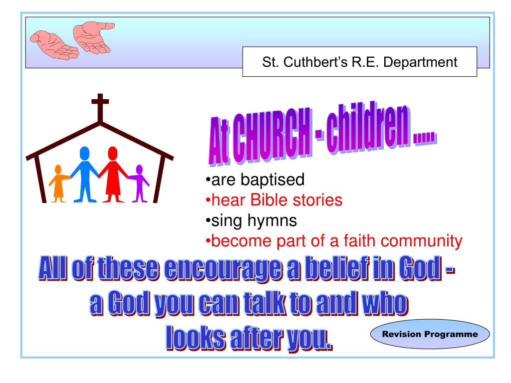 At CHURCH - children .....