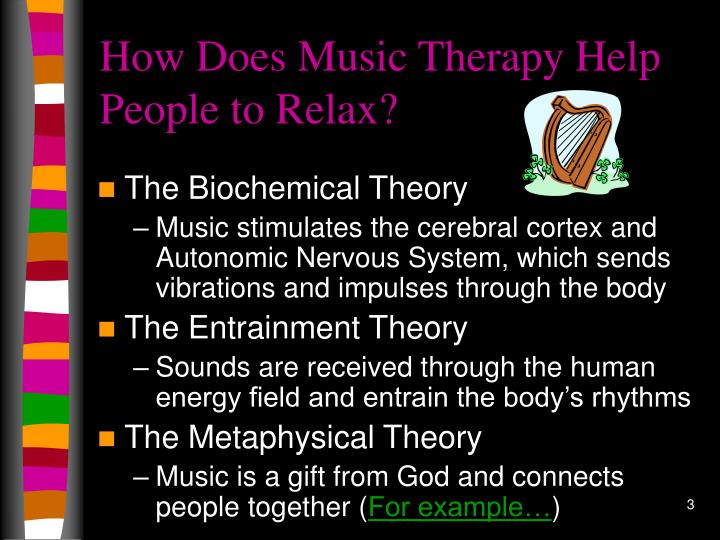 How does music therapy help people to relax