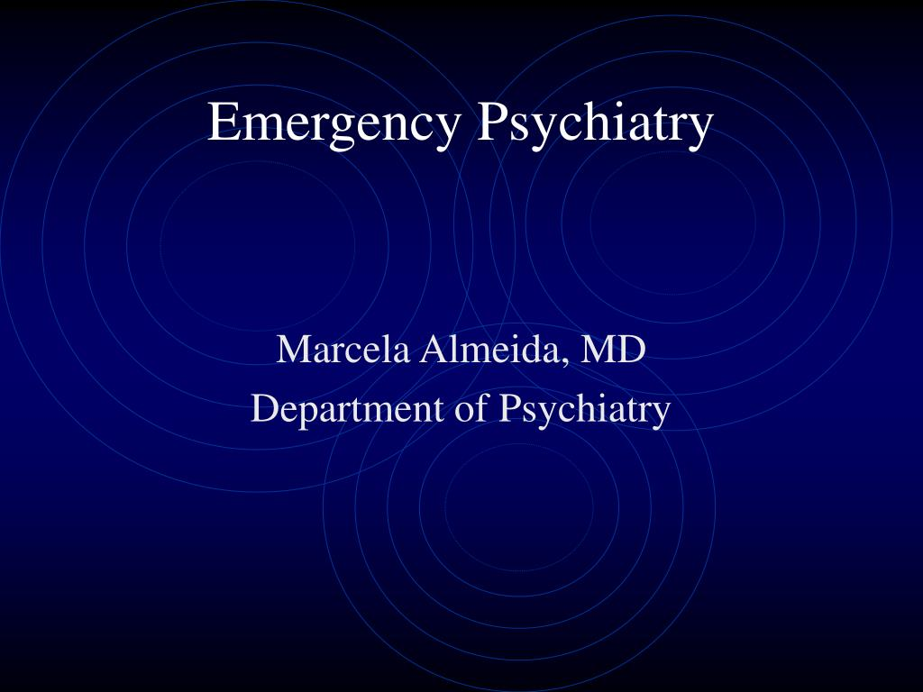 emergency psychiatry l.