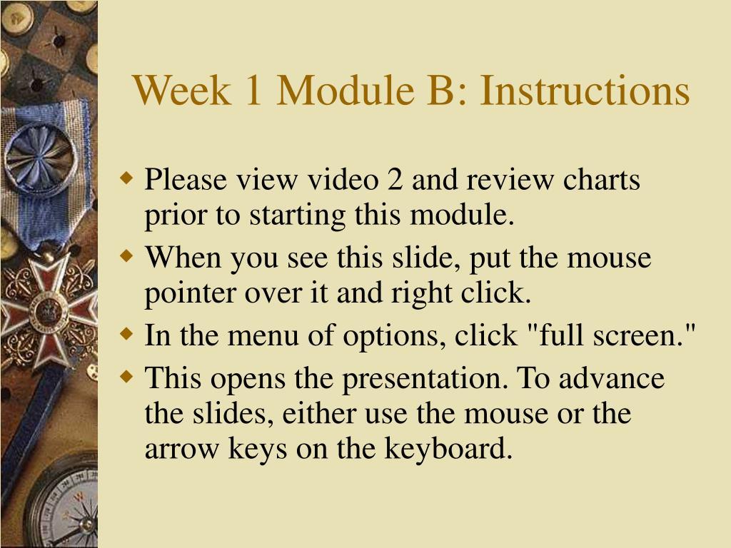 week 1 module b instructions l.