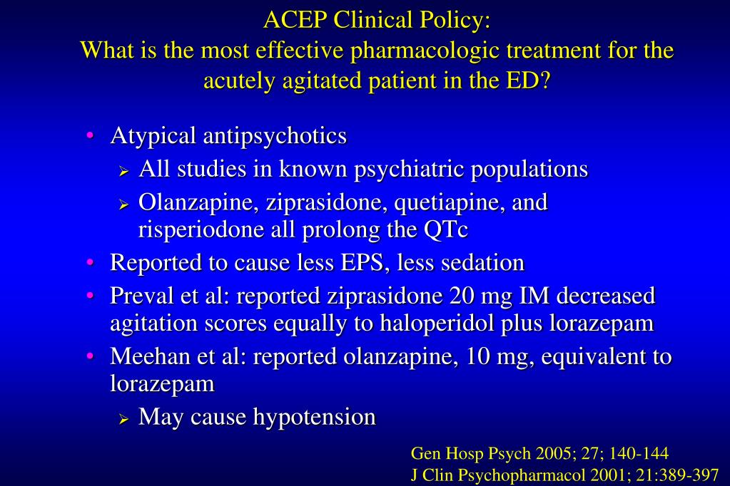 ACEP Clinical Policy: