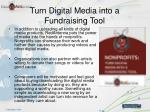 turn digital media into a fundraising tool3